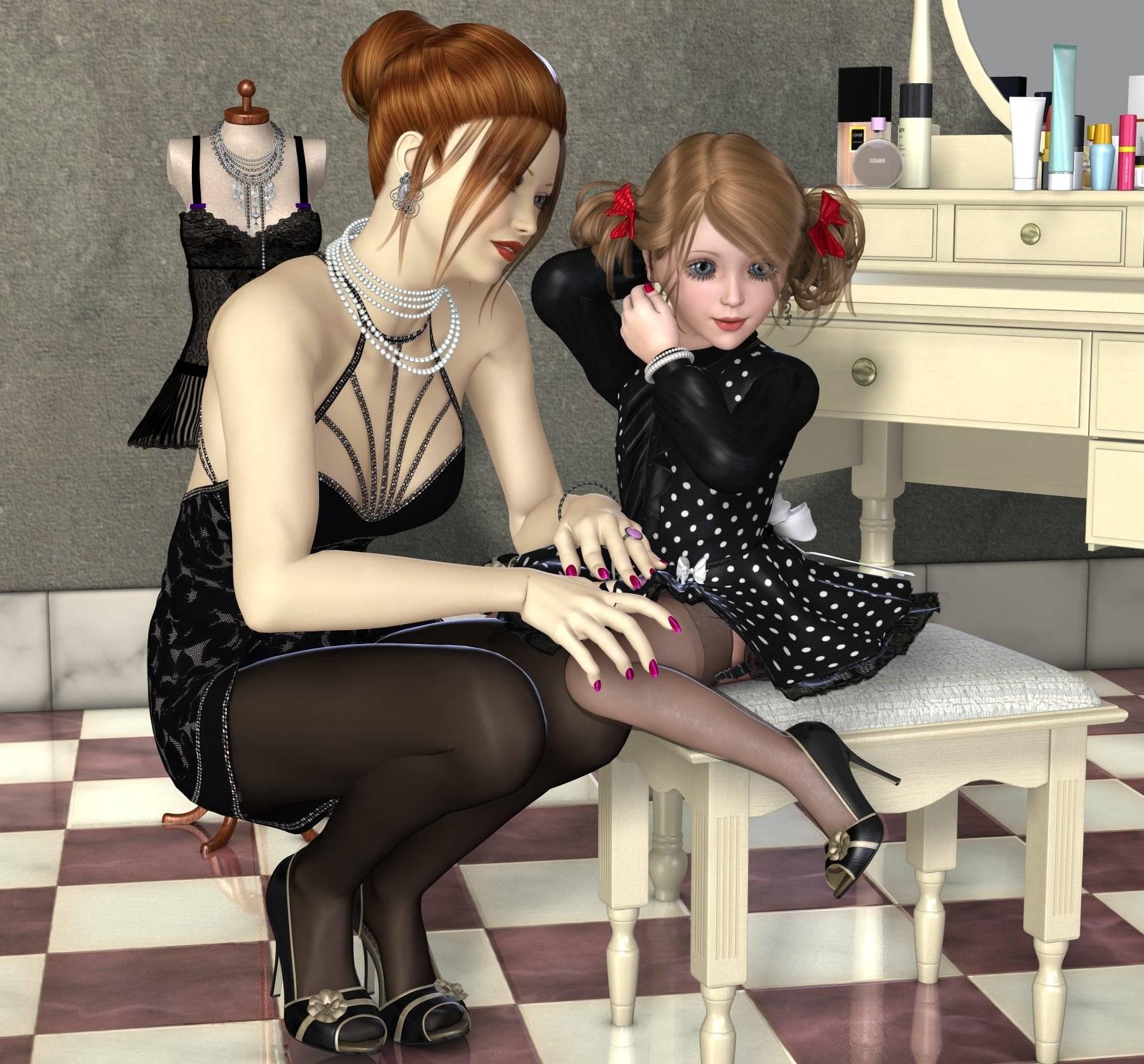 Hentai lesbians dress up games